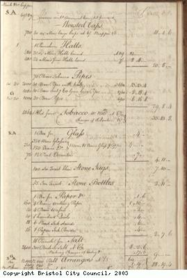 Page 41 from log book of ship Africa