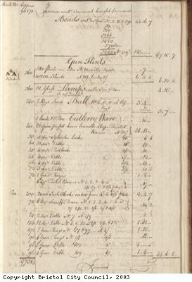 Page 43 from log book of ship Africa