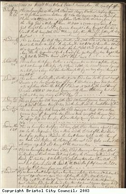 Page 43 of log book of Black Prince