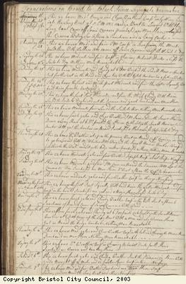 Page 46 of log book of Black Prince