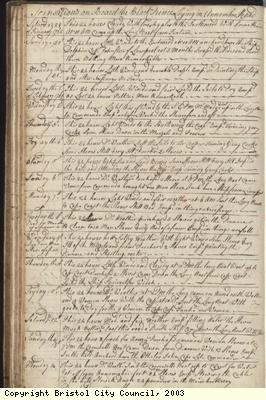 Page 52 of log book of Black Prince