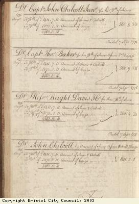 Page 60 from log book of ship Africa
