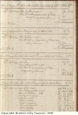 Page 61 from log book of ship Africa