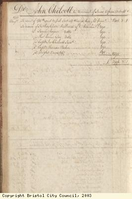 Page 62 from log book of ship Africa