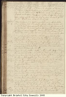 Page 88 of log book of Black Prince