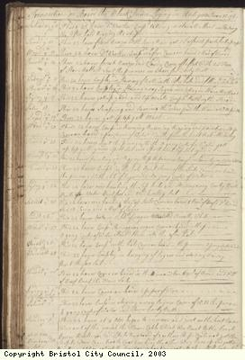 Page 90 of log book of Black Prince