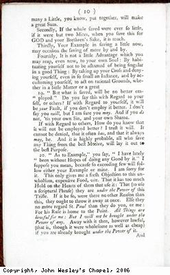 Page of pamphlet concerning tea