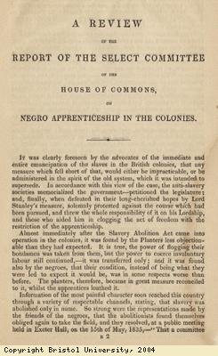 Pamphlet; apprenticeship in colonies