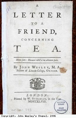 Pamphlet concerning tea