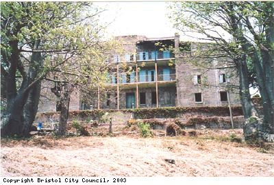 Photograph of Bath Hotel ruin on Nevis