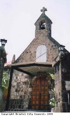 Famous church on Nevis