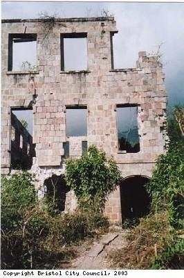 Remains of the Huggins' plantation home