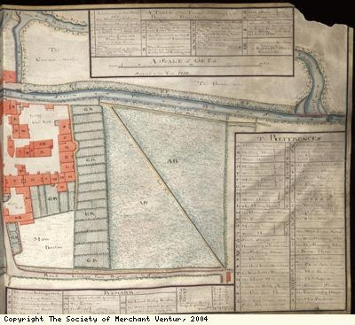 Plan of Baptist Mills brassworks near Bristol