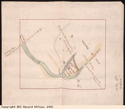 Plan of River Avon, New Cut and River Frome