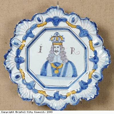 Plate depicting King James II