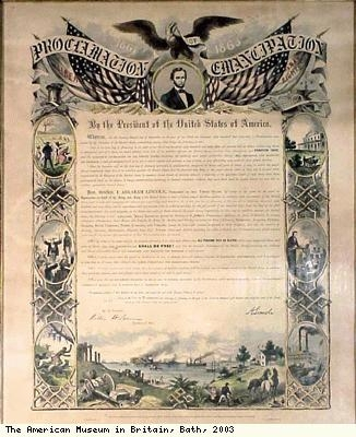 Proclamation of end of slavery