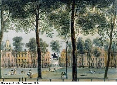 Queen Square, looking south-east, 1827