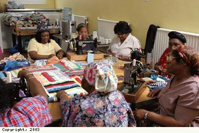 Quilters at work