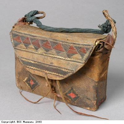 Leather case from Asante people of West Africa