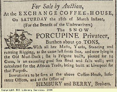 Sale by auction of a ship