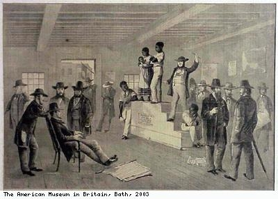 Slave market in Richmond
