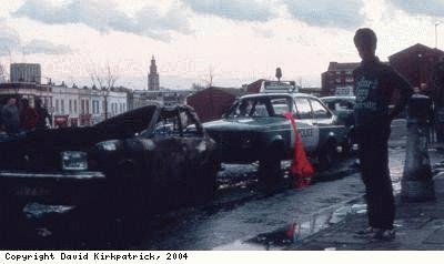St Pauls Riots, damaged cars