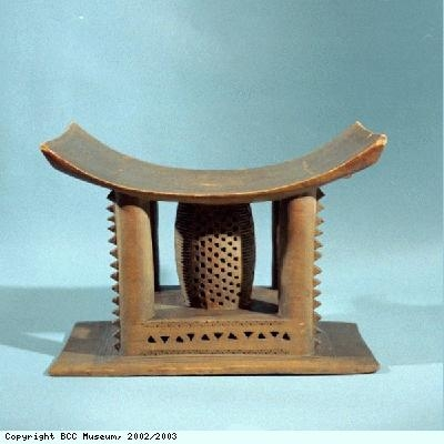 Woman's stool from the Asante people of Ghana