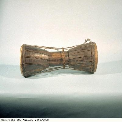 Talking drum from the Asante people of Ghana