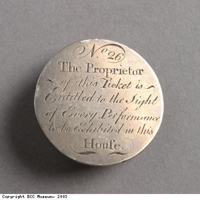 Theatre token (back)