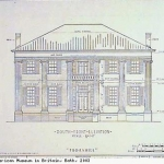 Thornhill plantation house - south front elevation