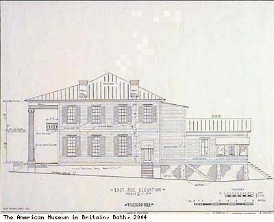 Thornhill plantation house - east side elevation