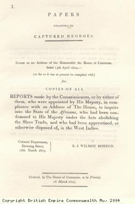 Title page to reports