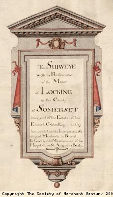Title page, manor of Locking survey