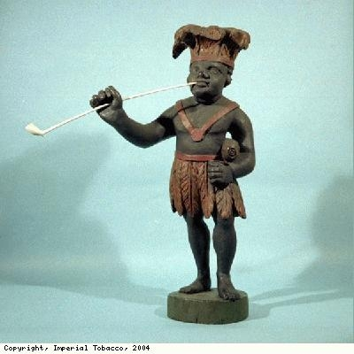 Tobacconists figure of an African