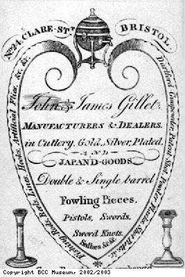Trade card, John and James Gillet