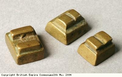 Weights used for measuring gold dust